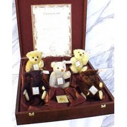 Coffret de 5 ours UK 1999-2003 mohair de 16 cm